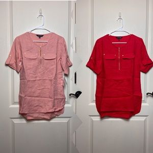Ellen Tracy Linen Tunic Bundle (XS)